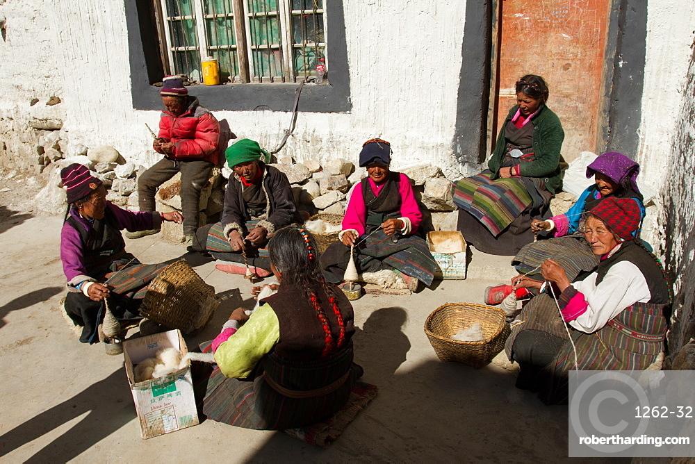 A village on the Tibetan/Nepal Border, Southern Tibet