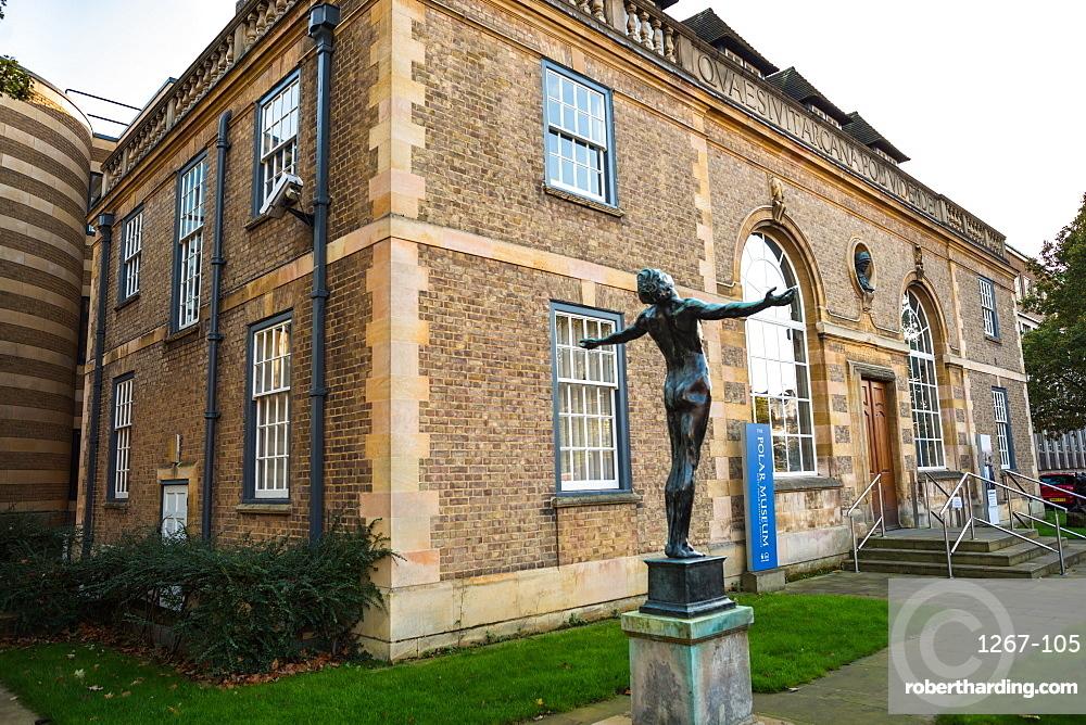 Polar Museum at the Scott Polar Research Institute, part of the University of Cambridge, Cambridgeshire, England, United Kingdom, Europe