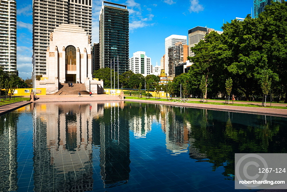 Anzac War Memorial at Hyde Park in Sydney, New South Wales, Australia.