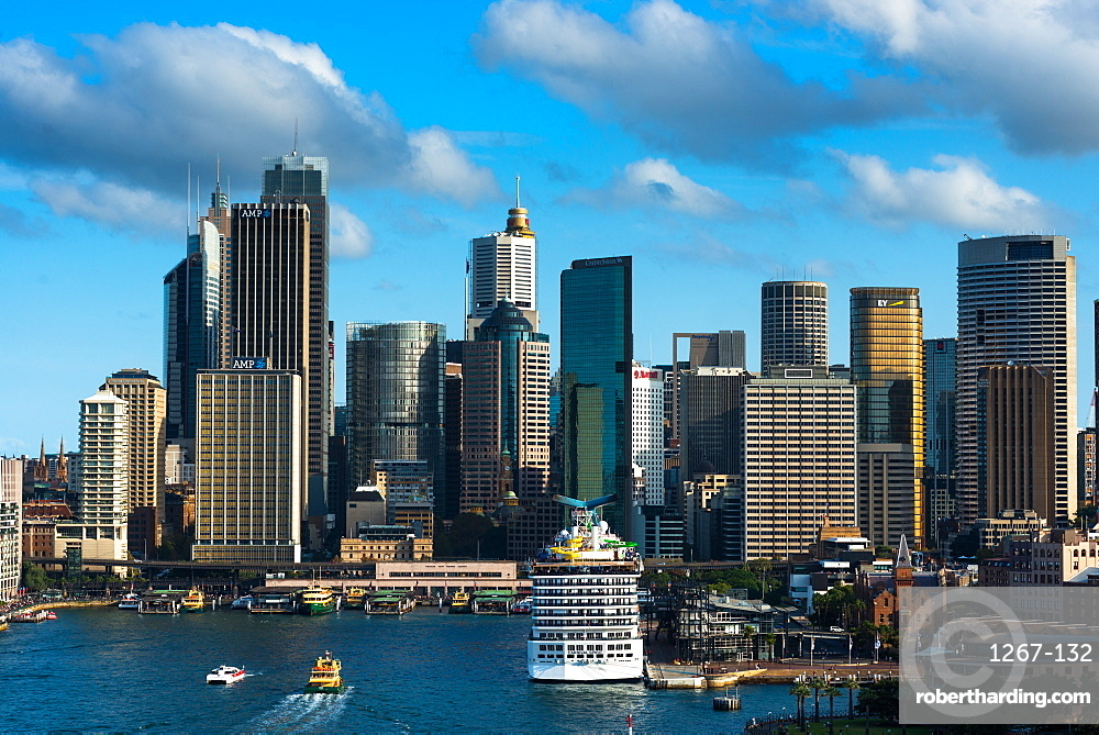 Sydney city skyline with Circular quay, New South Wales, Australia.