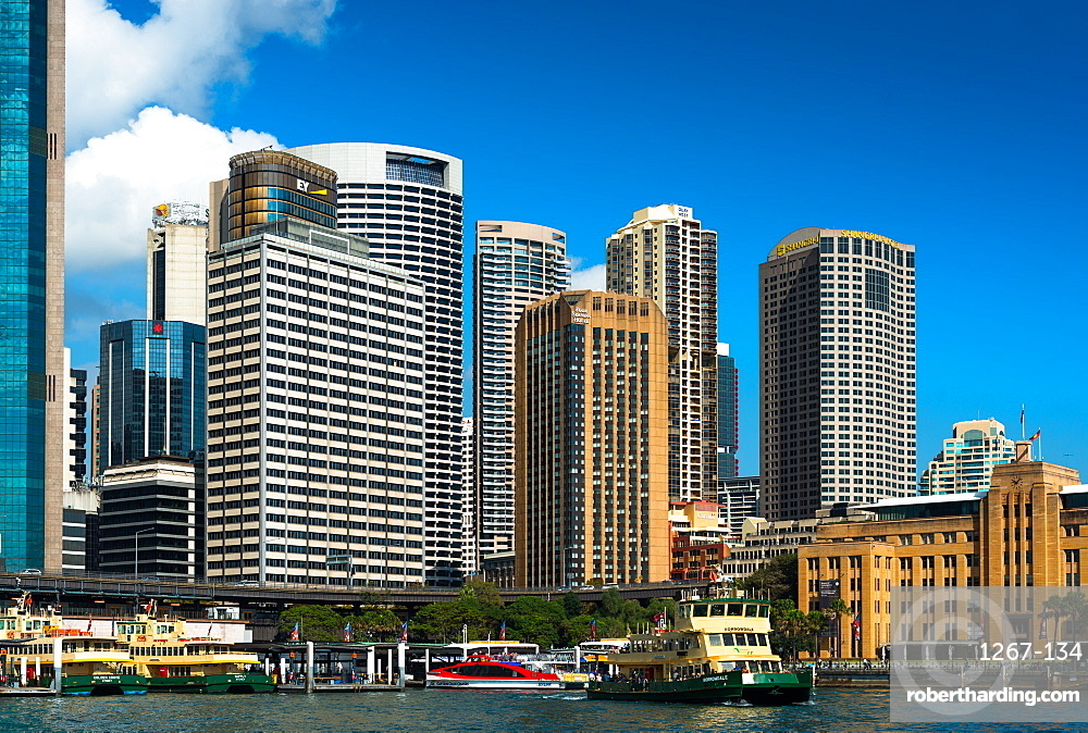 Sydney Circular Quay, the central hub for the city's ferry service, Sydney, New South Wales, Australia, Pacific