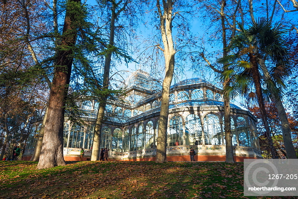 Crystal Palace in Retiro Park, Madrid, Spain, Europe