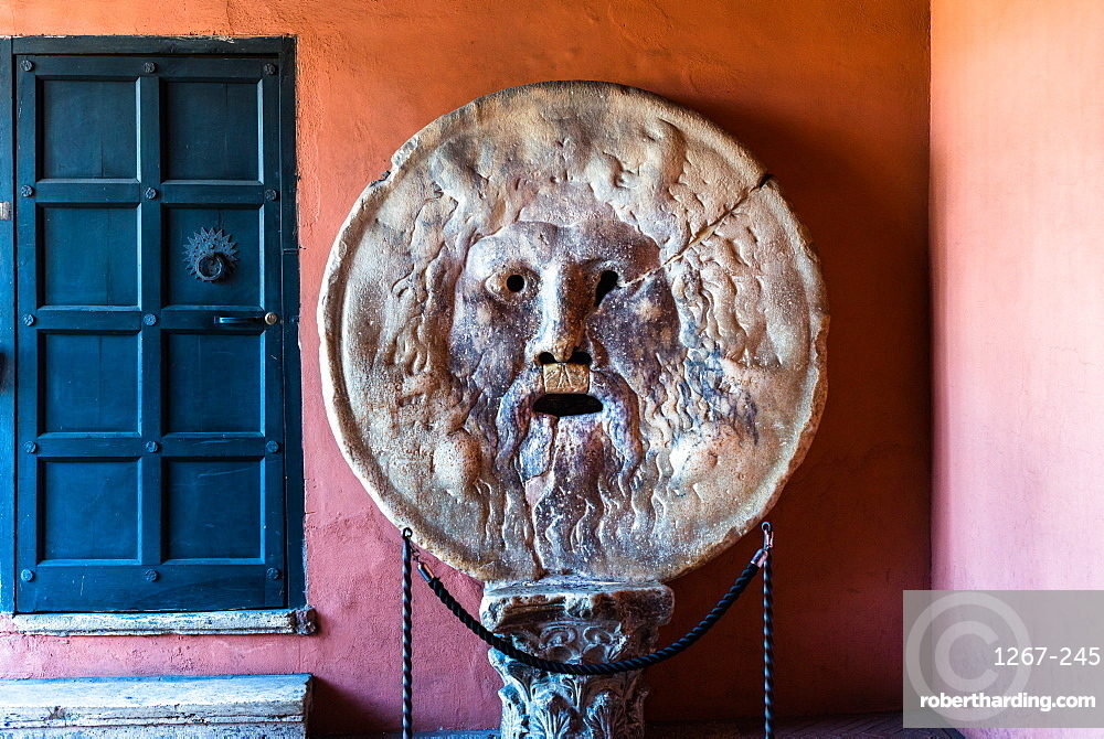 Bocca della Verità or Mouth of Truth is a marble mask at Santa Maria in Cosmedin church in Rome, Italy.