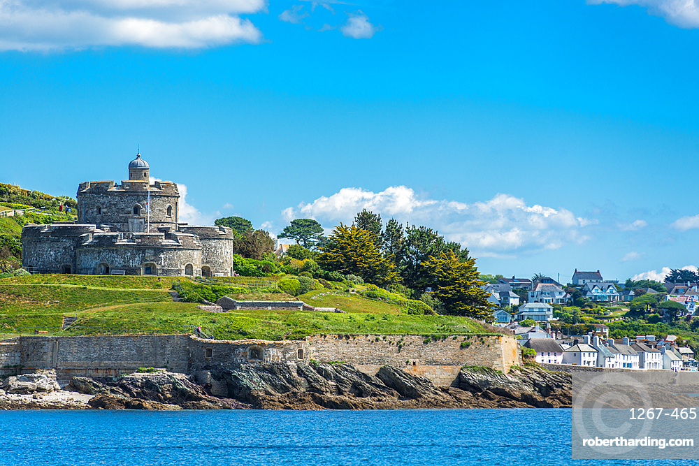 St. Mawes Castle, an artillery fort constructed by Henry VIII near Falmouth, Cornwall, England, United Kingdom, Europe