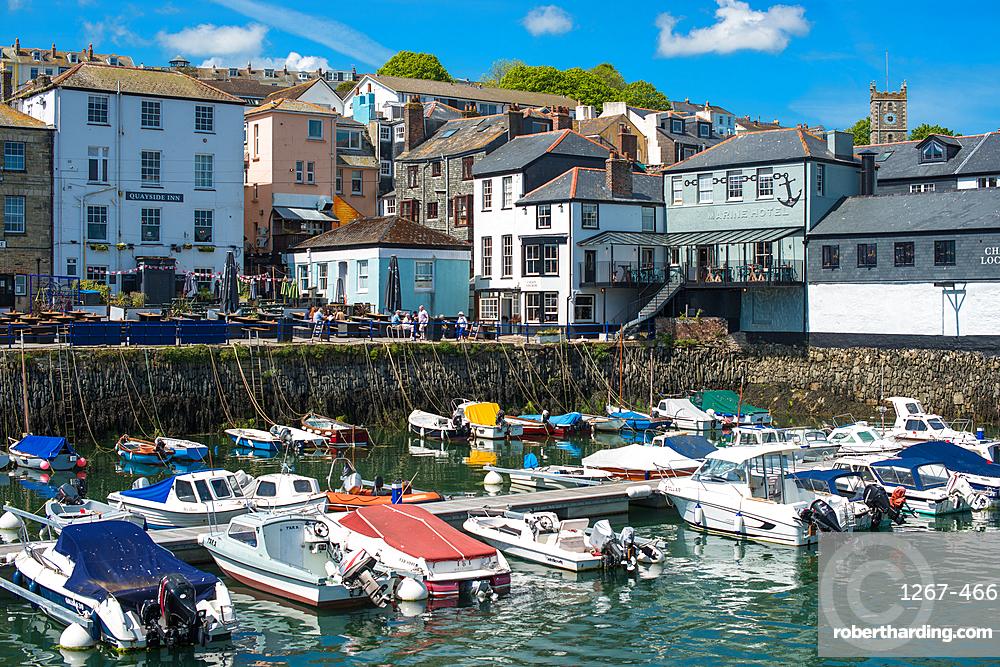 Custom House Quay in Falmouth, Cornwall, England, United Kingdom, Europe