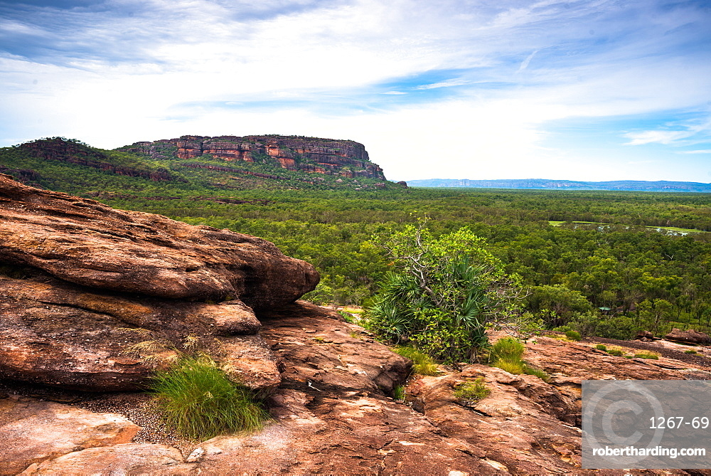 Views from the Nadab lookout, at the sacred Aboriginal site of Ubirr. Kakadu National Park, Northern Territory, Australia.