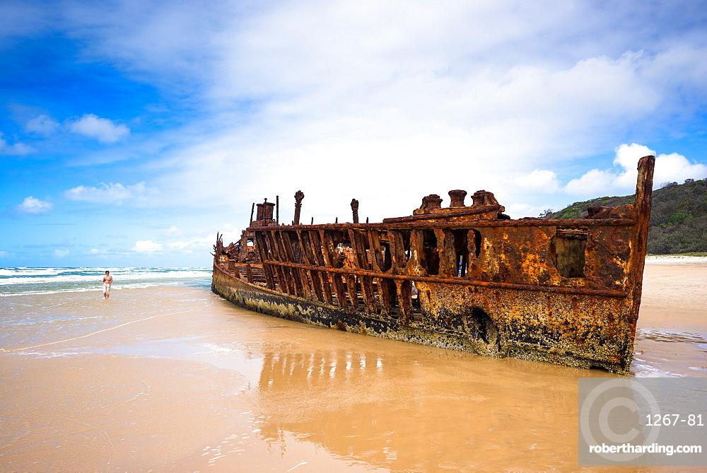 Maheno Shipwreck, Fraser Island, UNESCO World Heritage Site, Queensland, Australia.