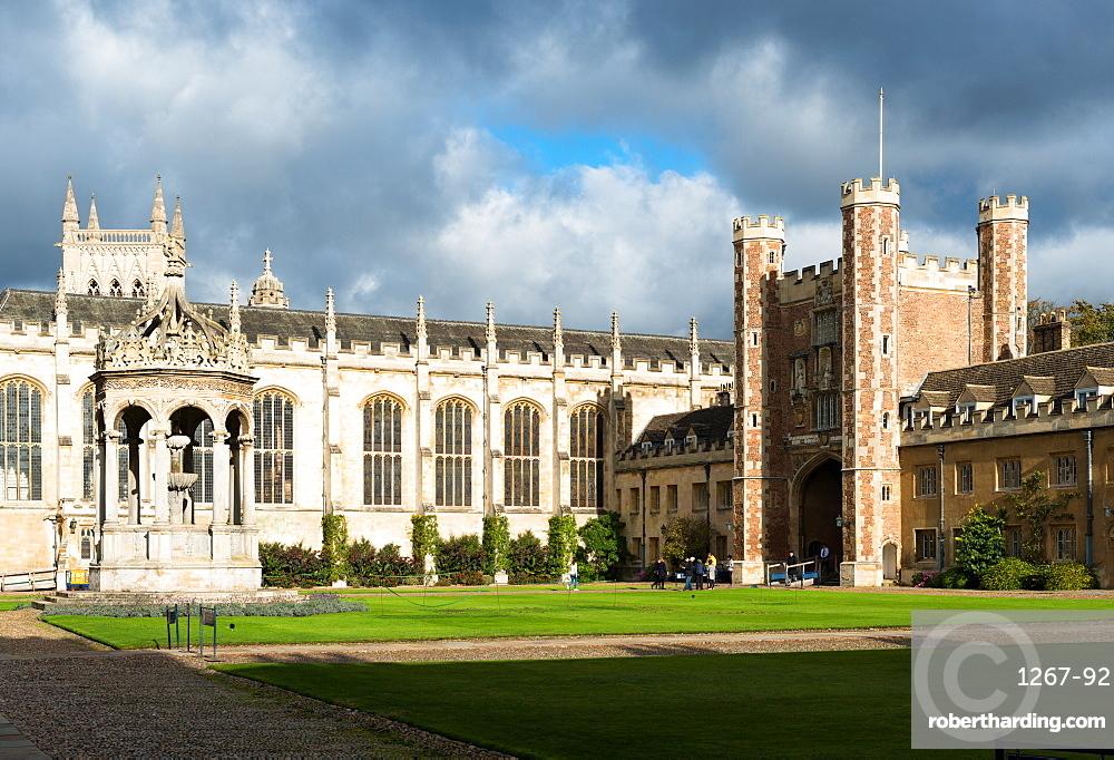 Trinity Great Court, Trinity College, University of Cambridge, Cambridge, Cambridgeshire, England, United Kingdom, Europe