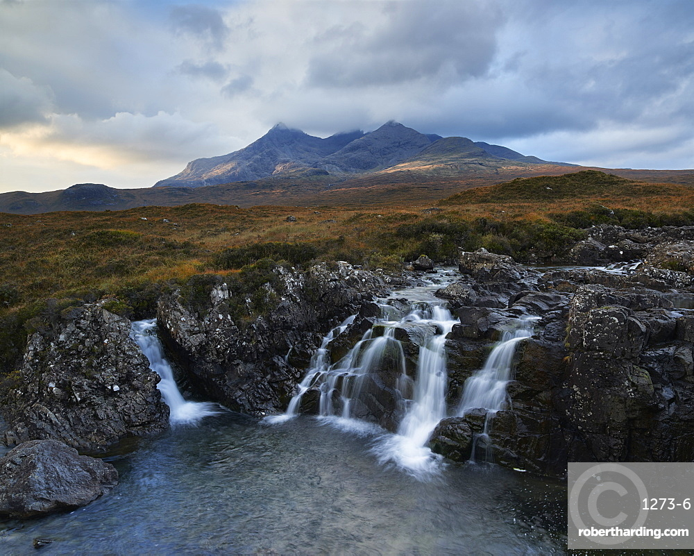 First light on the Cuillin, Isle of Skye, Inner Hebrides, Scotland, United Kingdom, Europe