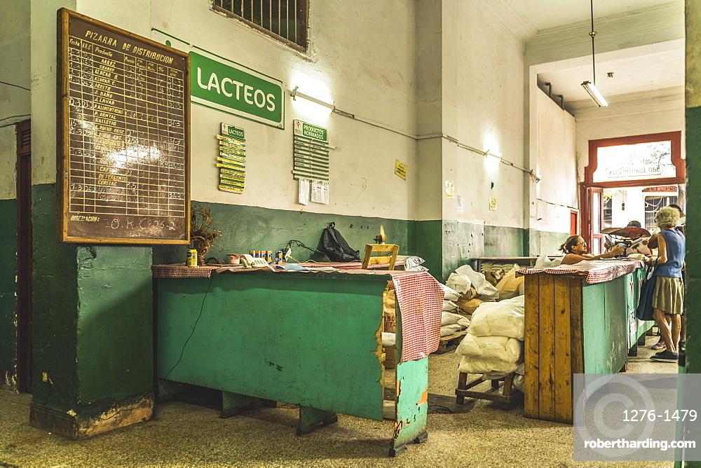Local shop in old La Habana, Havana, Cuba, West Indies, Caribbean, Central America
