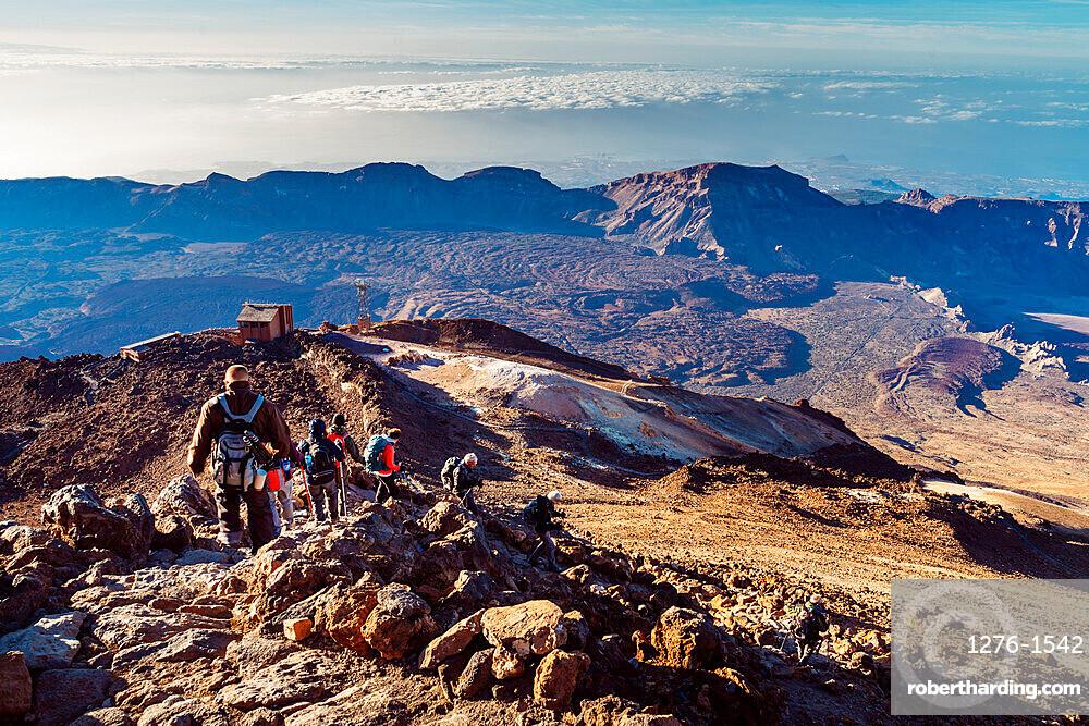 View of El Teide volcano national park in Tenerife, Canary Islands, Spain, Europe