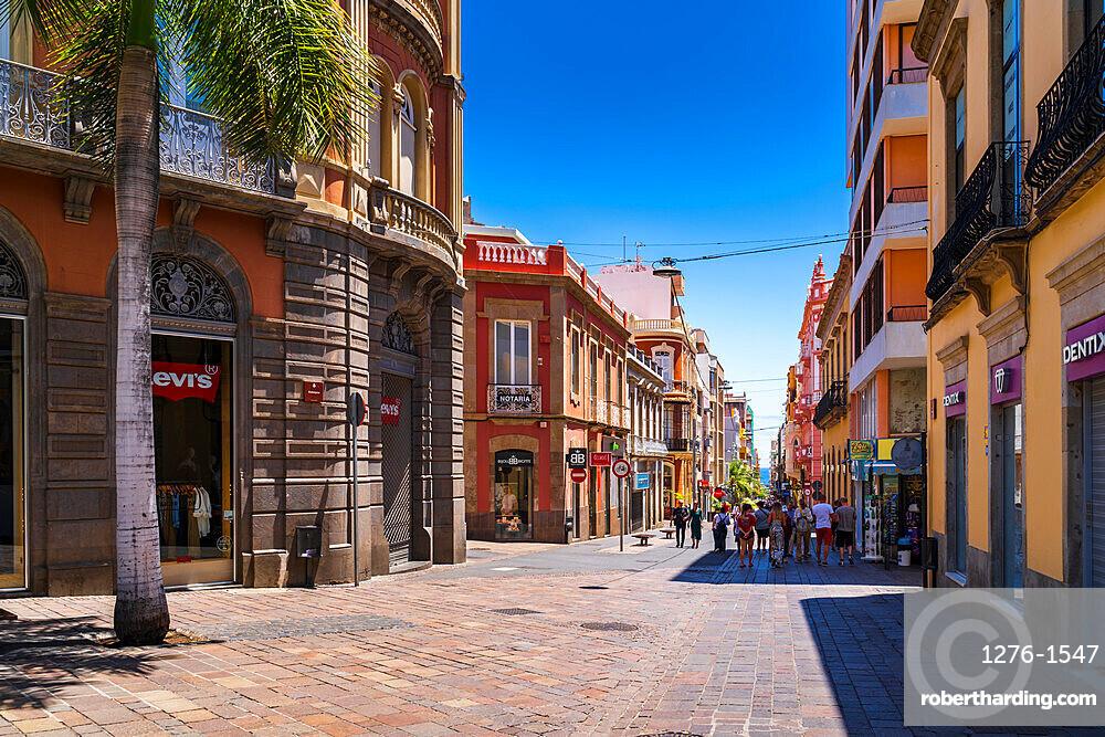 Corner of Castillio Street/ Robayna Street in Santa Cruz de Tenerife, Canary Islands, Spain, Europe