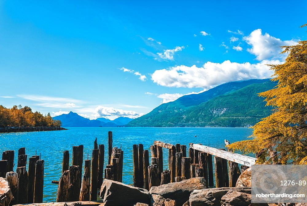 How Sound near Fury Creek near Squamish, British Columbia, Canada, North America
