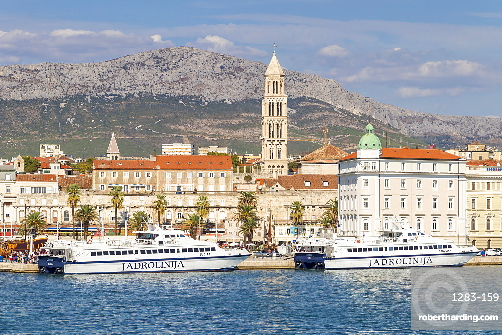 Cityscape of the old town of Split, Croatia, Europe