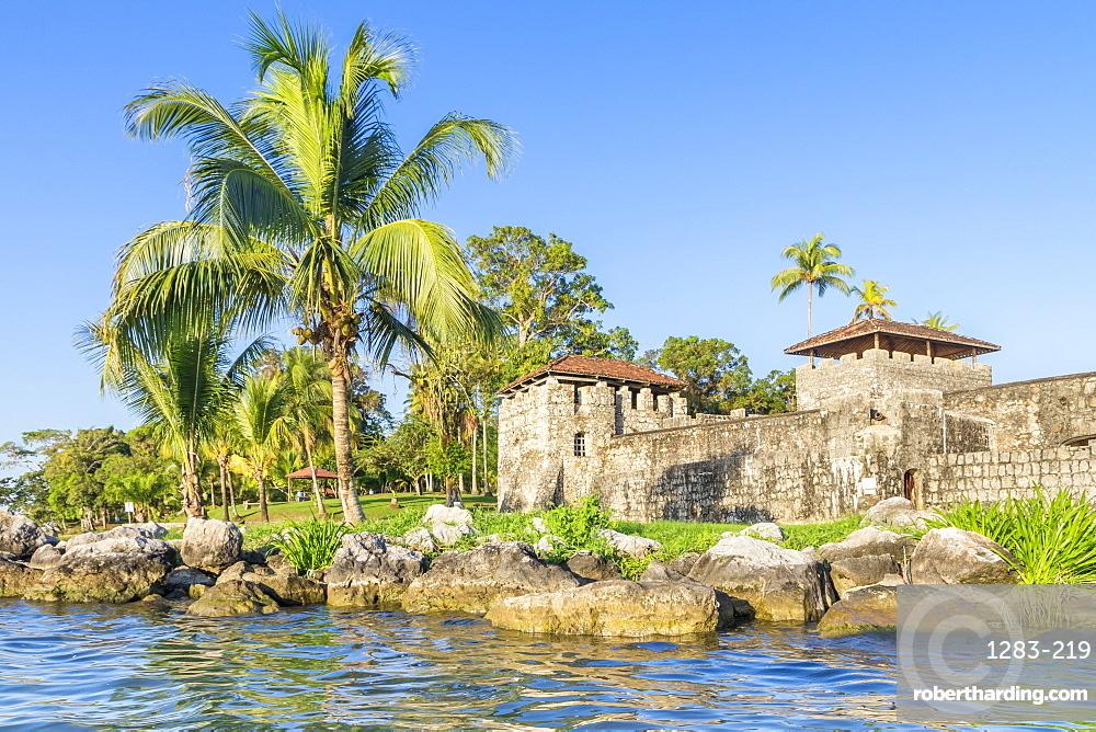 San Felipe de Lara Fortress near Rio Dulce, Guatemala, Central America