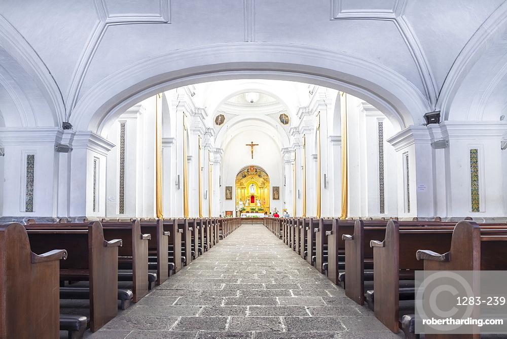 Interior of the cathedral La Merced in Antigua