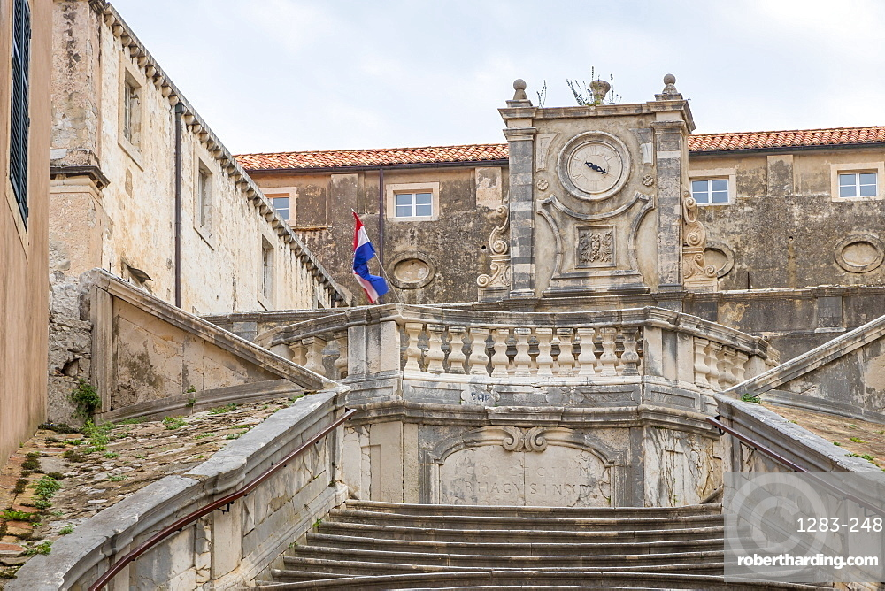The steps leading up to the Saint Ignatius Church in the old town of Dubrovnik