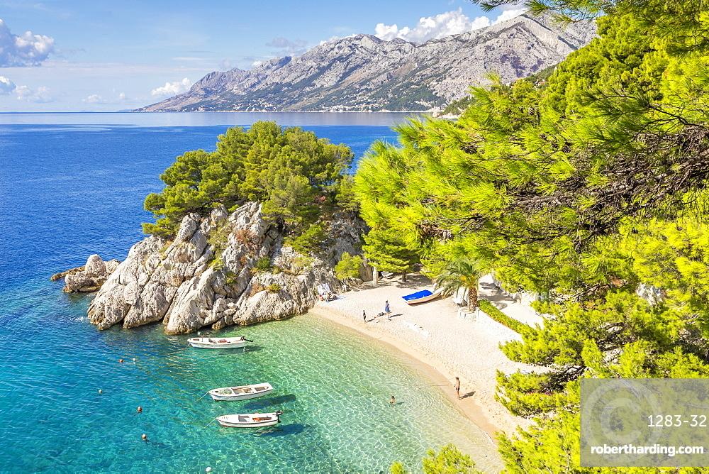 The famous Podrace Beach near Brela and Makarska, Croatia, Europe