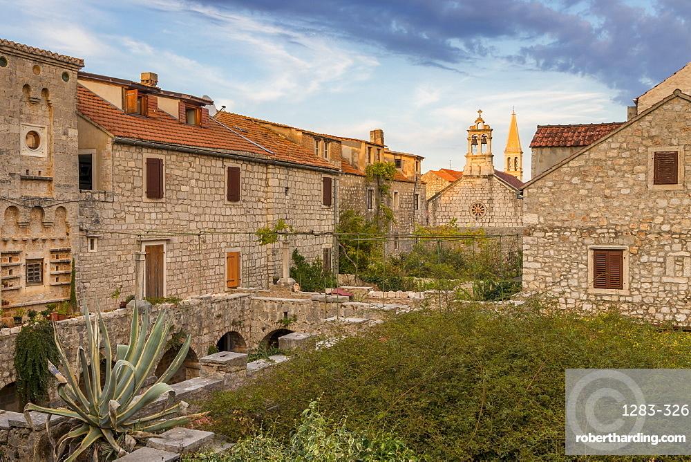 Inside the Tvrdalj Castle in the old town of Stari Grad on Hvar Island, Croatia, Europe