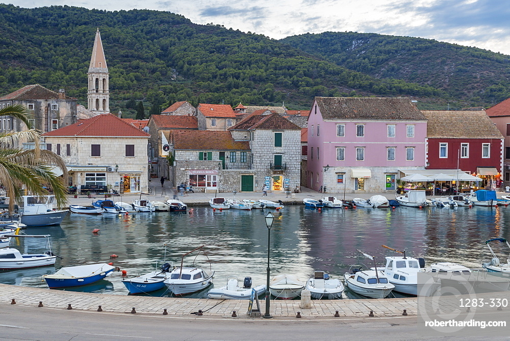 The old town of Stari Grad on Hvar Island, Croatia, Europe