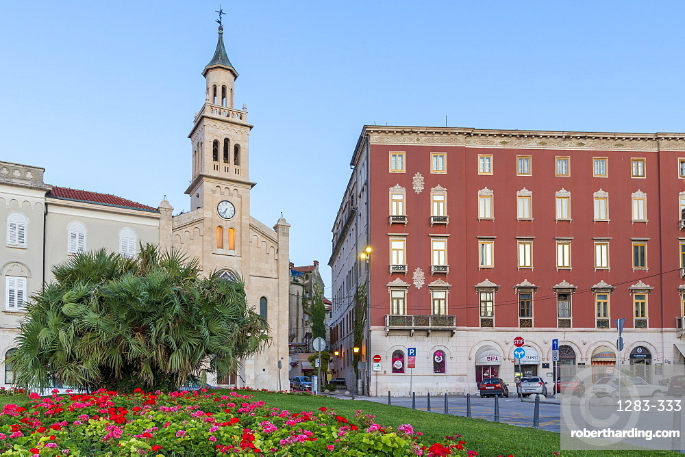 The church and monastery of St. Frane in Split at dawn