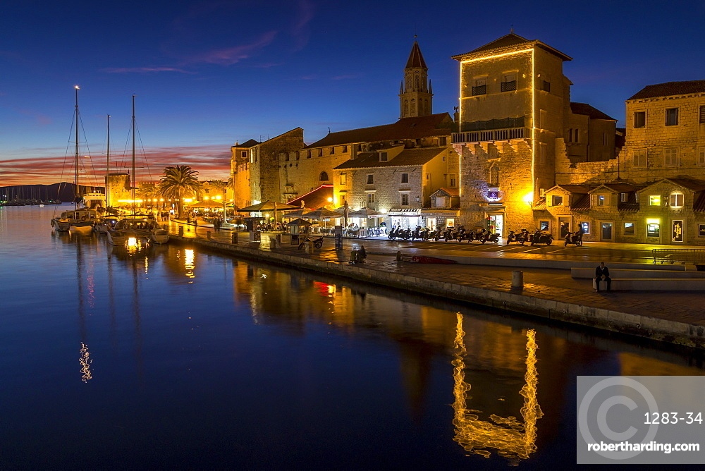 The old town of Trogir at dusk