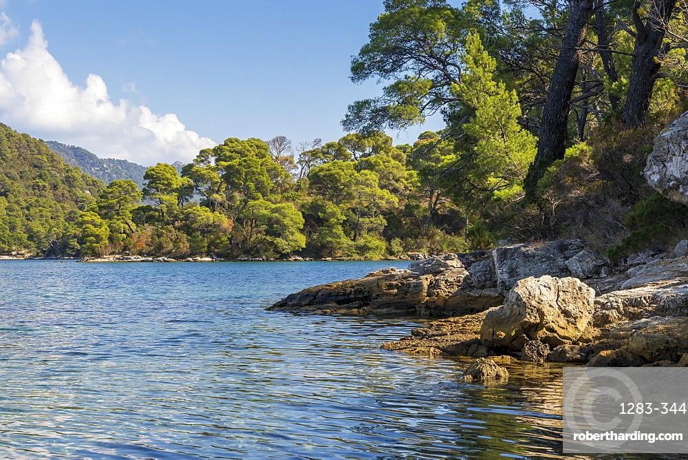 Veliko Jezero (Big Lake) on Mljet Island, Croatia, Europe