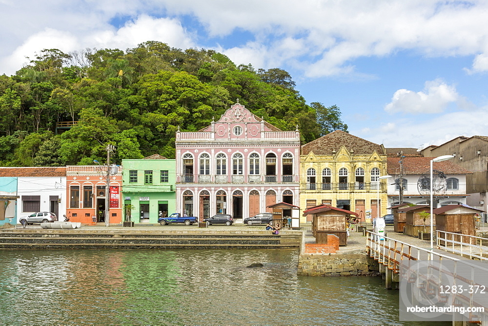 Colonial buildings in the historical centre of Sao Francisco do Sul, Santa Catarina, Brazil, South America