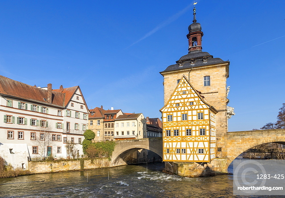 The old town hall of Bamberg, Upper Franconia, Bavaria, Germany, Europe