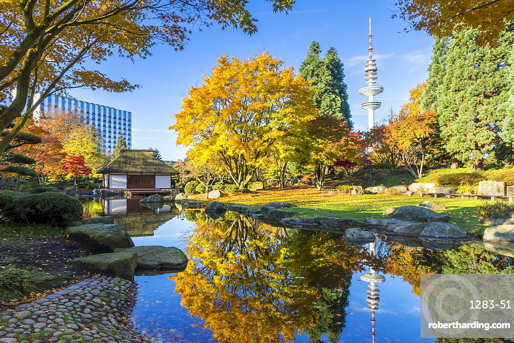 The Japanese Garden at Planten un Blomen park in Hamburg