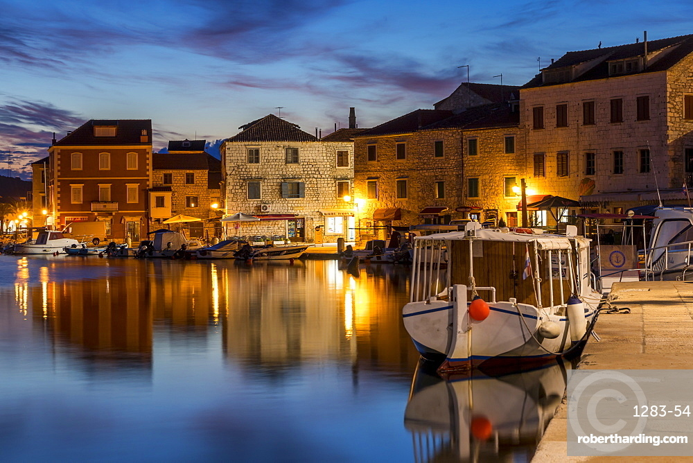 Stari Grad at dawn, Hvar, Croatia, Europe