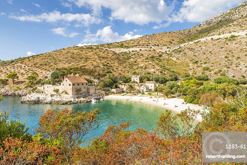 Dubovica Beach on the island Hvar, Croatia, Europe