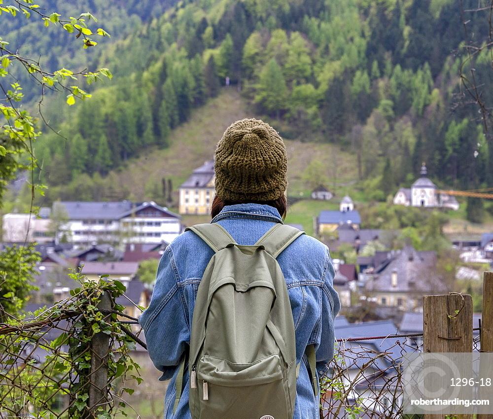 Taking in the views, Hallstatt, Austria, Europe