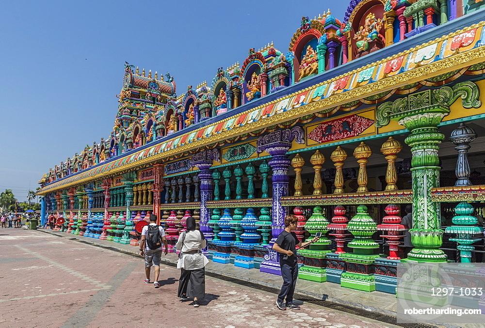 The colourful prayer hall at the Batu Caves, Kuala Lumpur, Malaysia, Southeast Asia, Asia