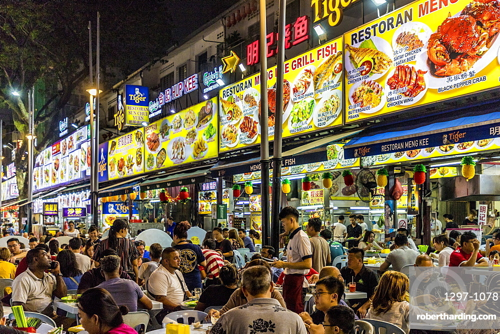 Jalan Alor Night Food Market in Kuala Lumpur, Malaysia, Southeast Asia, Asia