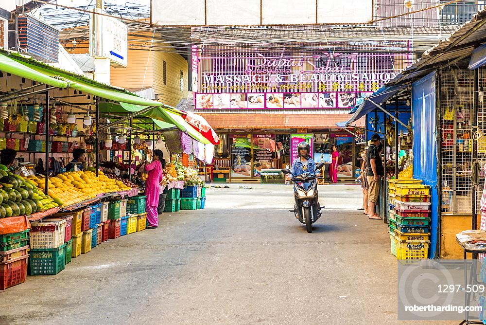 A market scene in Kata, Phuket, Thailand, Southeast Asia, Asia