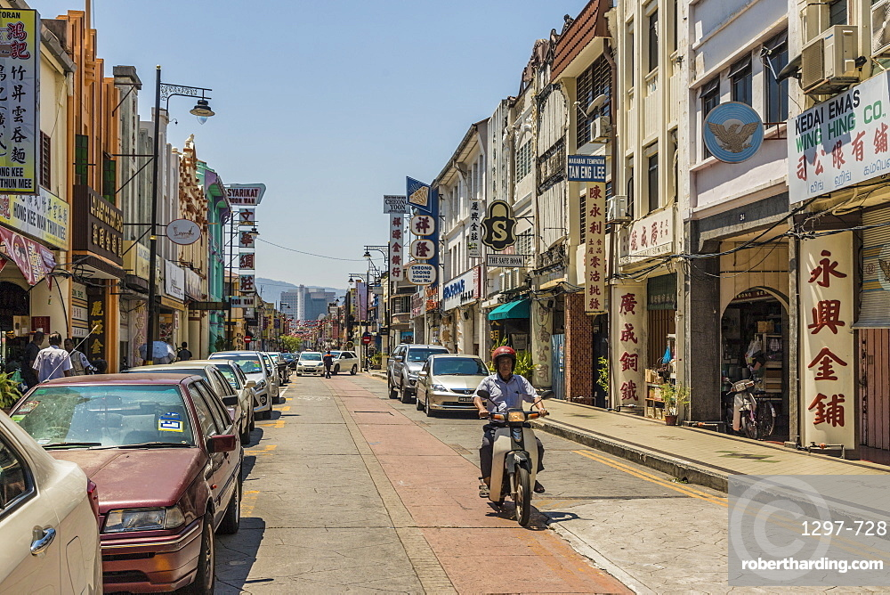 A street scene in George Town, Penang Island, Malaysia, Southeast Asia, Asia.