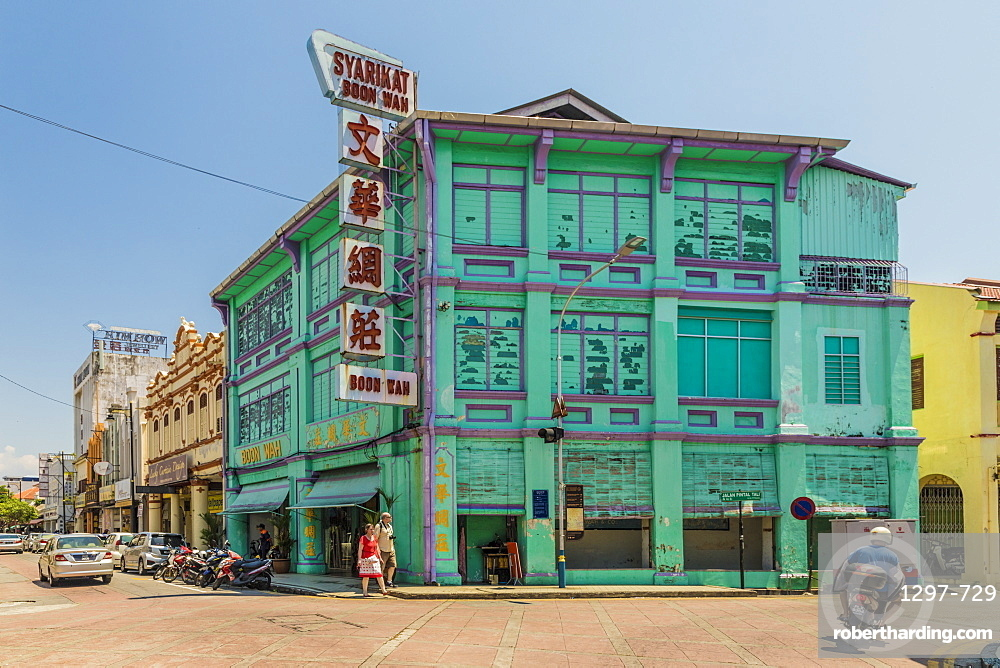 A street scene in George Town, Penang Island, Malaysia, Southeast Asia, Asia.
