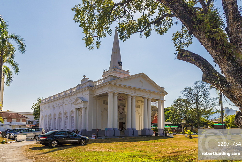 St Georges church in George Town, Penang Island, Malaysia, Southeast Asia, Asia.