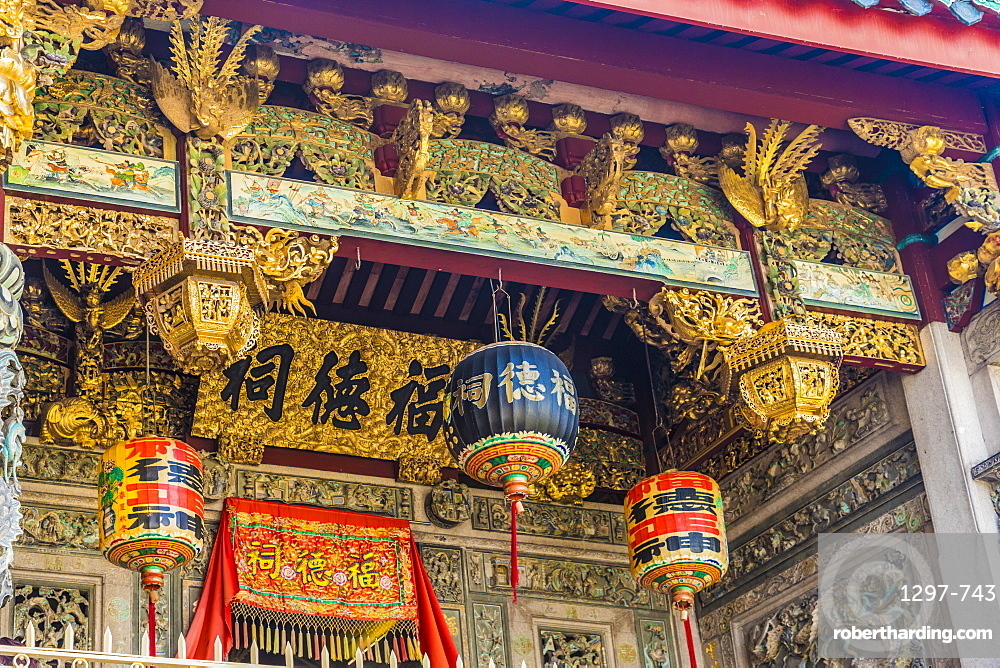 Ornate detail at the Khoo Kongsi temple in the UNESCO heritage area of George Town, Penang Island, Malaysia,Southeast Asia, Asia