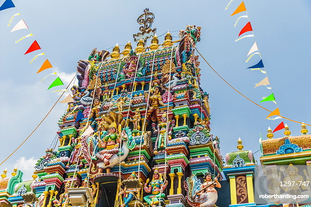 Sri Mahamariamman Temple in Little India, George town, Penang Island, Malaysia, Southeast Asia, Asia.