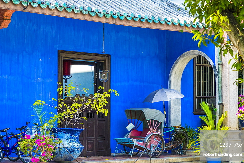 Cheong Fatt Tze, The Blue Mansion, in George Town, Penang Island, Malaysia, Southeast Asia, Asia