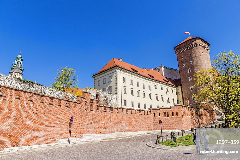 Wawel Royal Castle, a UNESCO World Heritage Site, in the medieval old town, in Krakow, Poland, Europe.