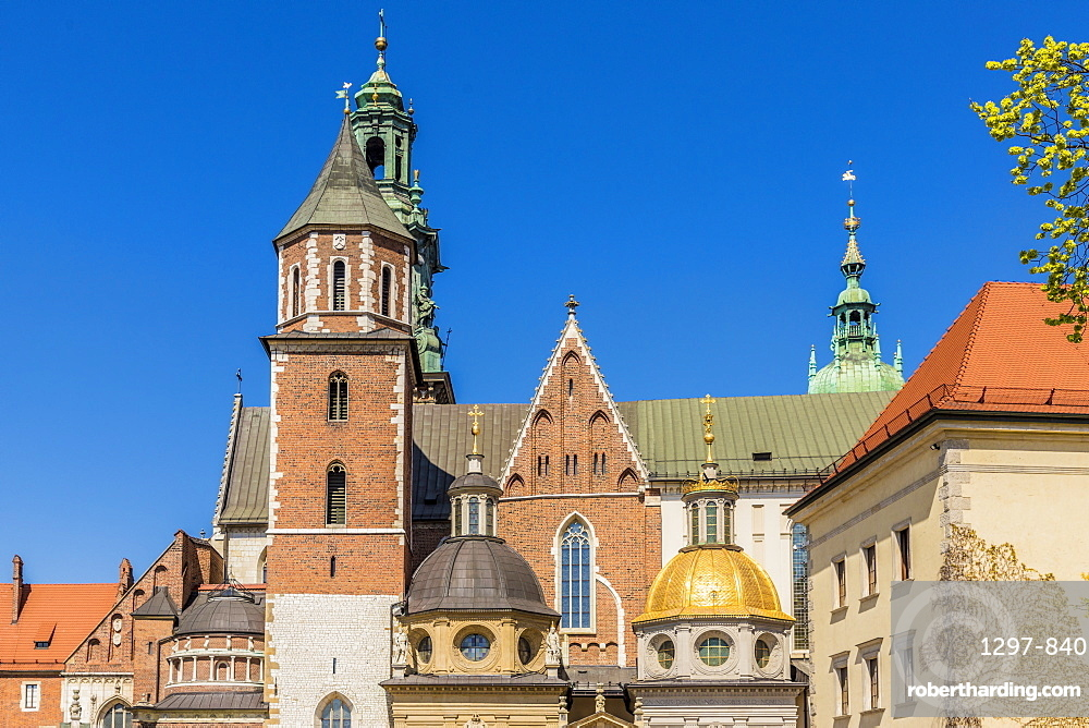 Wawel Cathedral at Wawel Royal Castle, a UNESCO World Heritage Site, in the medieval old town, in Krakow, Poland, Europe.