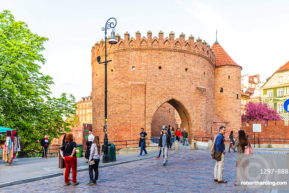 Warsaw Barbican surrounding the old town, a UNESCO World Heritage site in Warsaw, Poland Europe.
