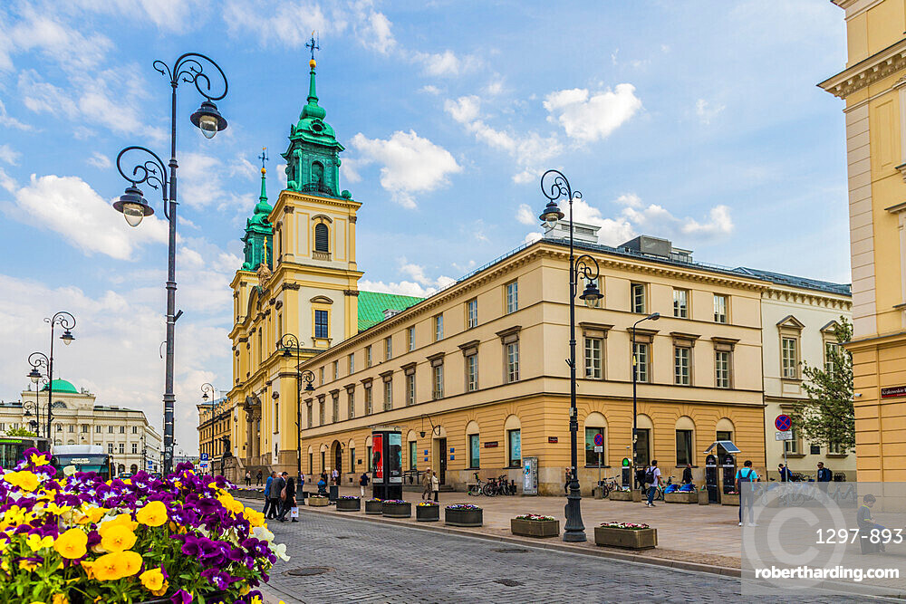 The Holy Cross Church in the Old Town, a UNESCO World Heritage site in Warsaw, Poland, Europe.