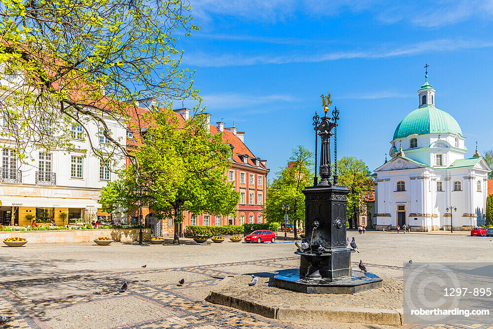 St. Kazimierz Church in the New Town in Warsaw, Poland, Europe.