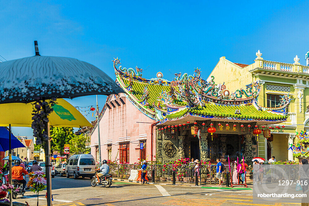 Choo Chay Keong Temple in George Town, a UNESCO World Heritage site, Penang Island, Malaysia, Southeast Asia, Asia.