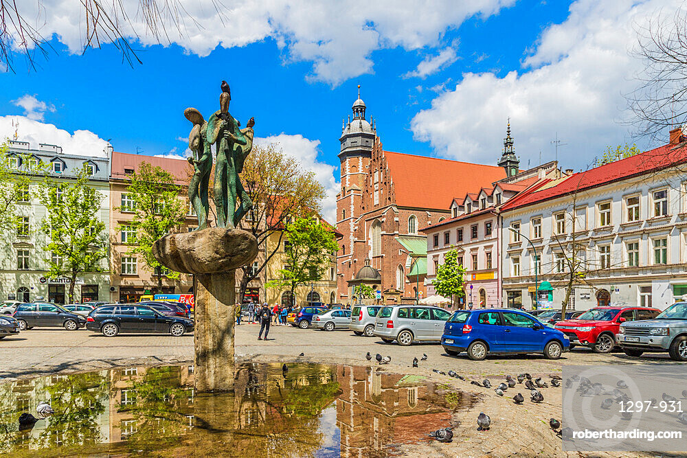 Church of St. Catherine of Alexandria & St. Margarita in Kazmierz, historical former Jewish District in Krakow, Poland, Europe