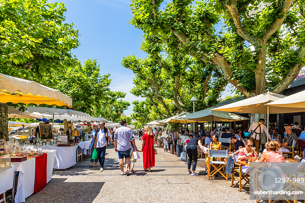 Colourful market stalls in Cannes, Alpes Maritimes, Cote d'Azur, Provence, French Riviera, France, Mediterranean, Europe